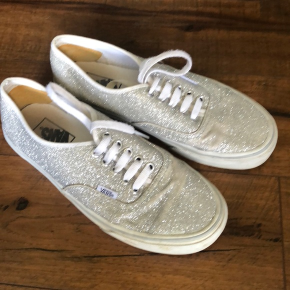7ca671284f Vans Shoes - Sparkley silver glitter VANS